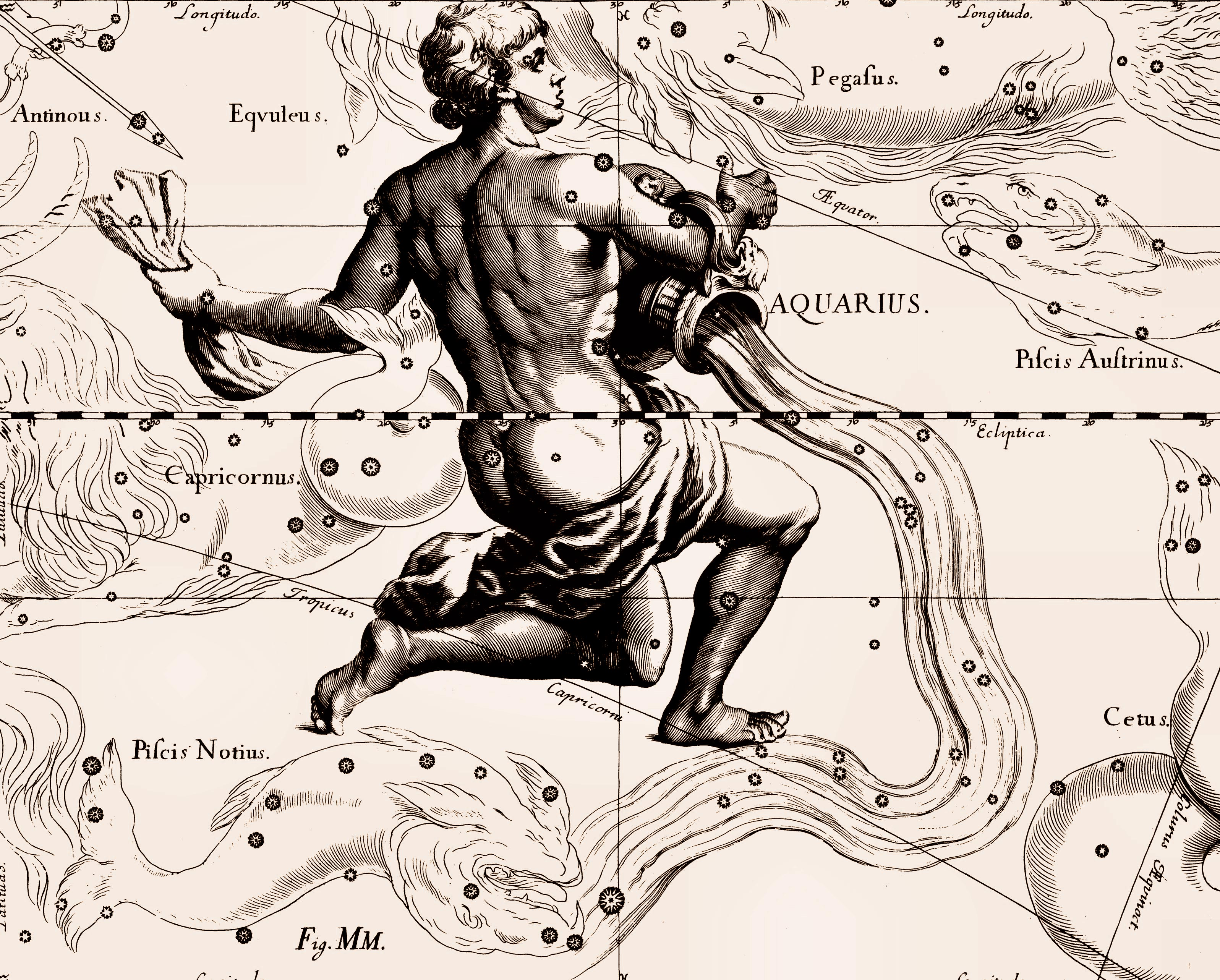 an analysis of the concept of stars throughout the mythology and the aquarious constelation
