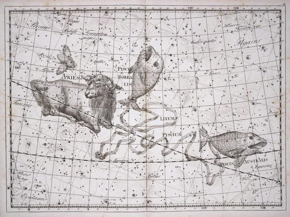 созвездие Рыб из Атласа