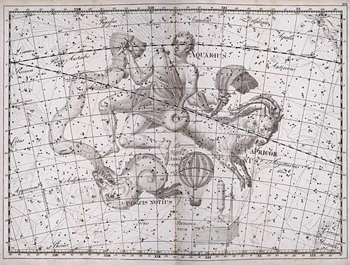 Созвездие Козерог из Атласа Uranographia Яна Гевелия (1690)