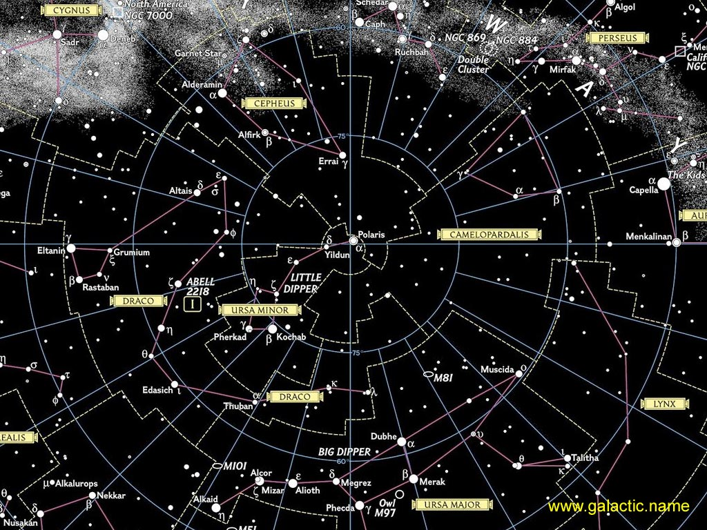 звездная карта неба